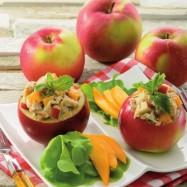 Homard et Crabe chez soi _ Pommes farcies crabe et mangue _ photo