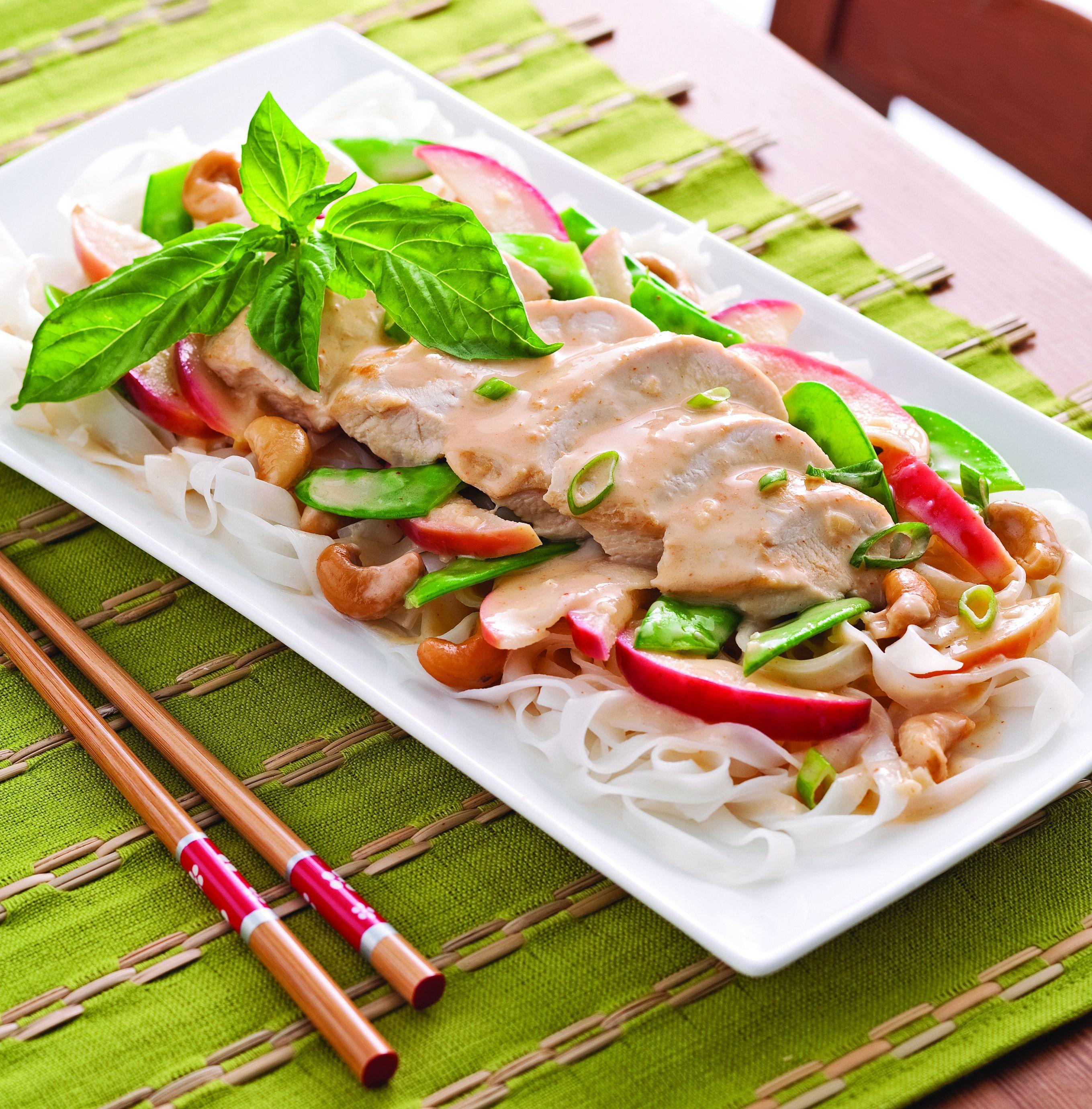 Poitrines de poulet sauce thaï - Web